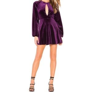 Lovers + Friends Purple Nettie Mini Dress NWT| S